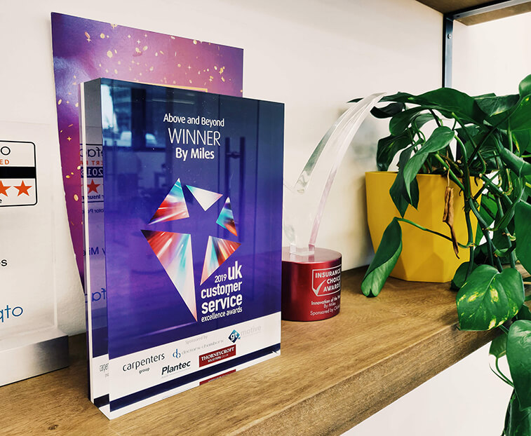 Above and Beyond UK Customer Service Excellence Award 2019