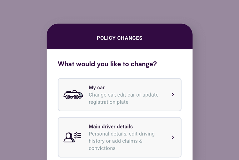 Self-serve policy change