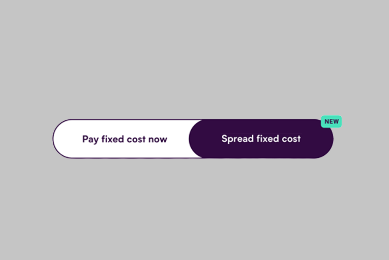 Spread fixed cost toggle