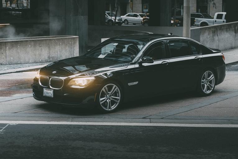 BMW car headlights