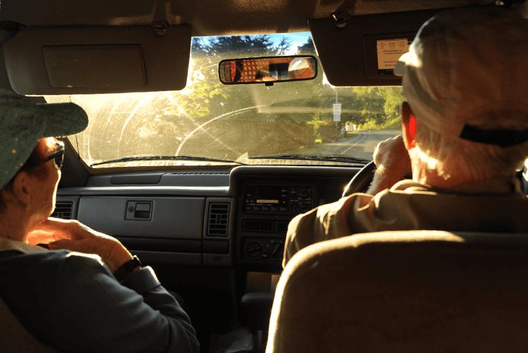 Sun visor driving