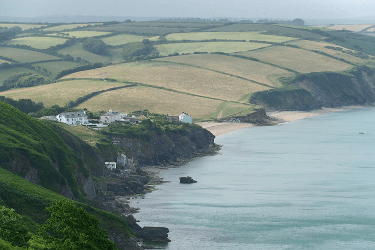 Devon coastline scenery