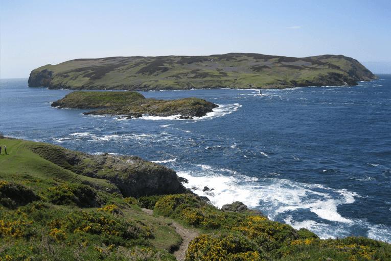 Isle of Calf island sea