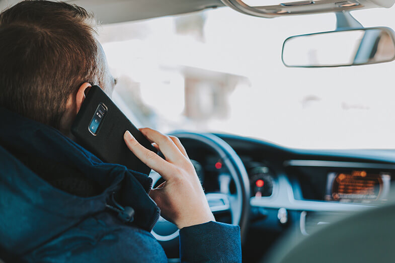 Using the phone while driving