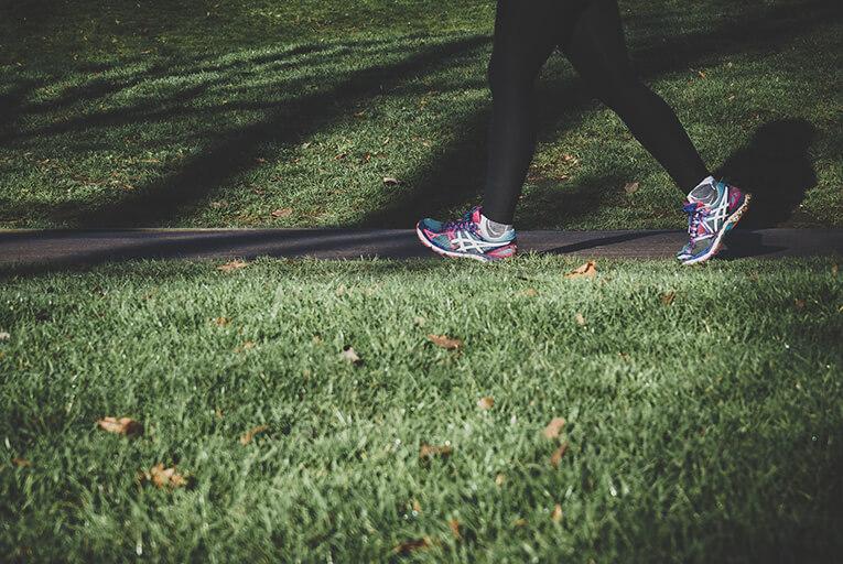 Walking park exercise