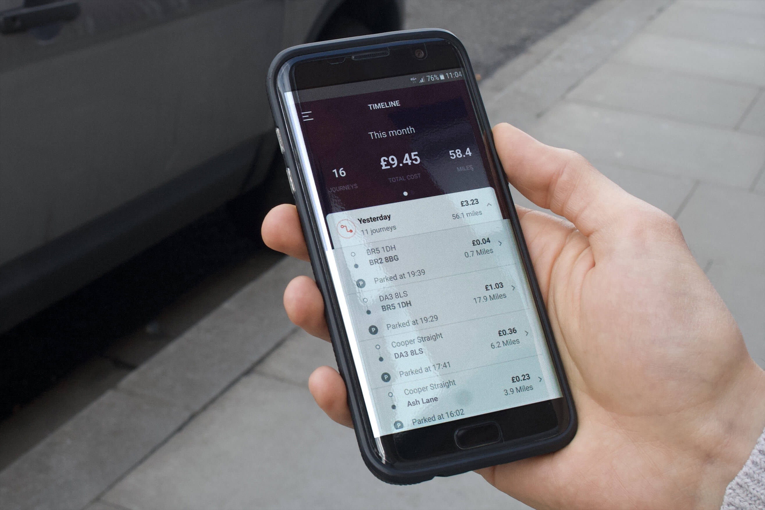 By Miles car insurance smartphone app
