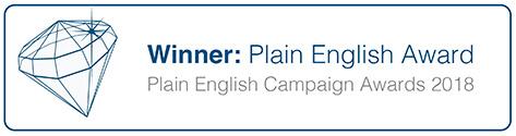 The Plain English Award 2018
